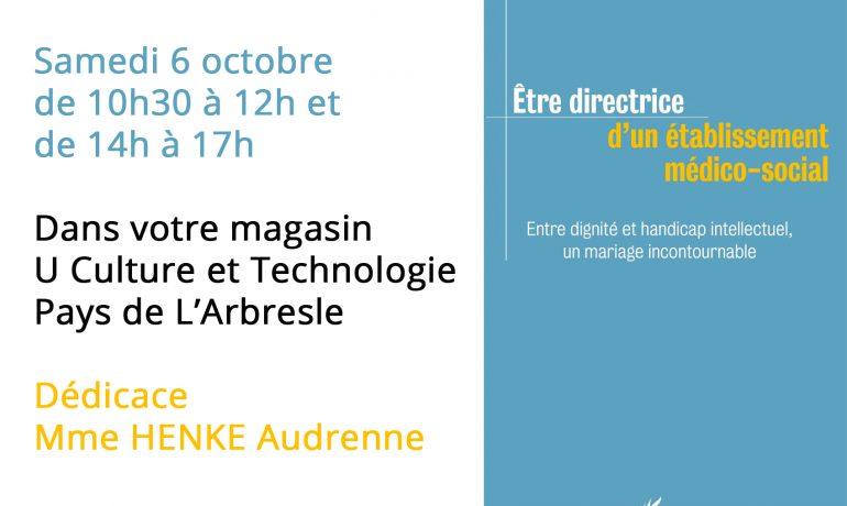Evènement dédicace HENKE Audrenne Samedi 6 octobre