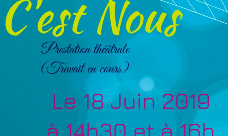 Évènement le 18 juin 2019 à 14h30 et à 16h, pièce de théâtre - C'est Nous (Compagnie Electra 5)