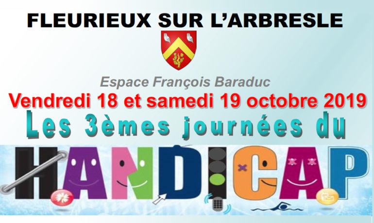 """Les 3èmes Journées """"HANDICAP"""" 18 et 19 octobre 2019"""